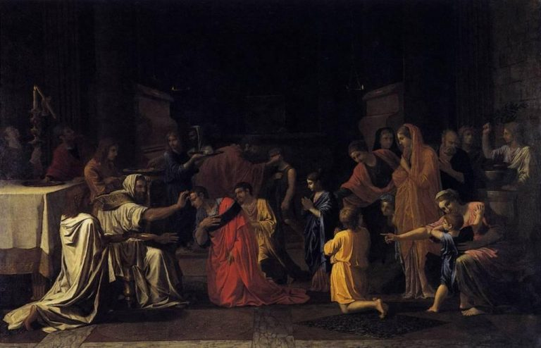 Poussin, Quatre sacrements, Confirmation
