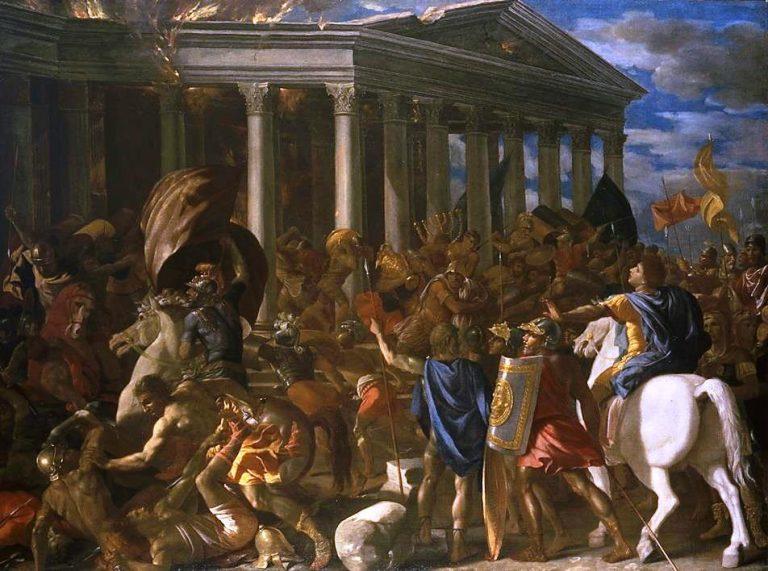 Poussin, Destruction du temple de Jerusalem