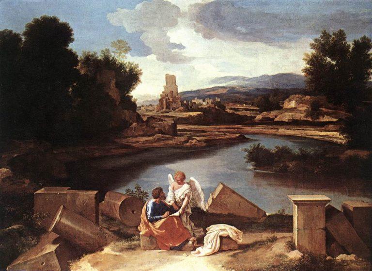Poussin, Paysage avec Saint Matthieu et l'Ange
