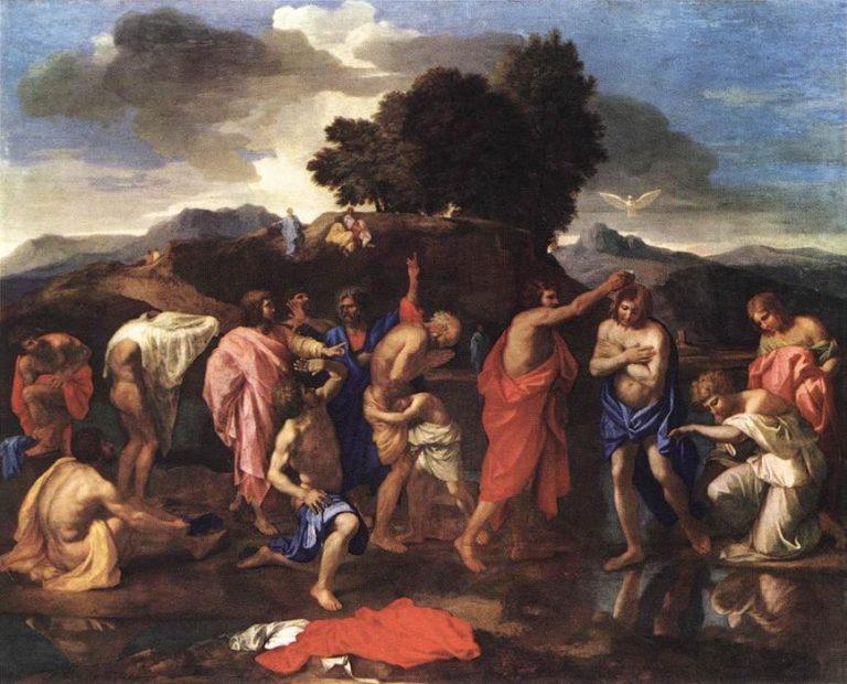 Poussin, Sept sacrements,Baptême