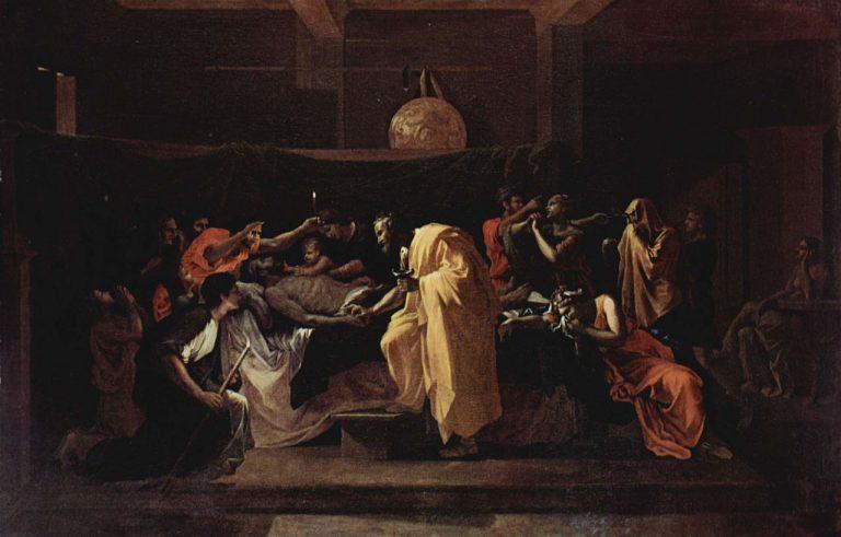 Poussin, Les 7 sacrements, extrême onction