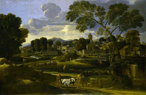 Poussin, Paysage avec funérailles